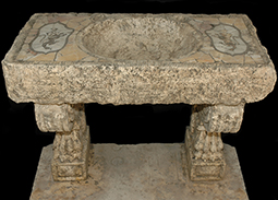 Ancient 16th Ancient Venetian bath style marble vegetable sink ideal for any powder room or even outdoor sink type installation