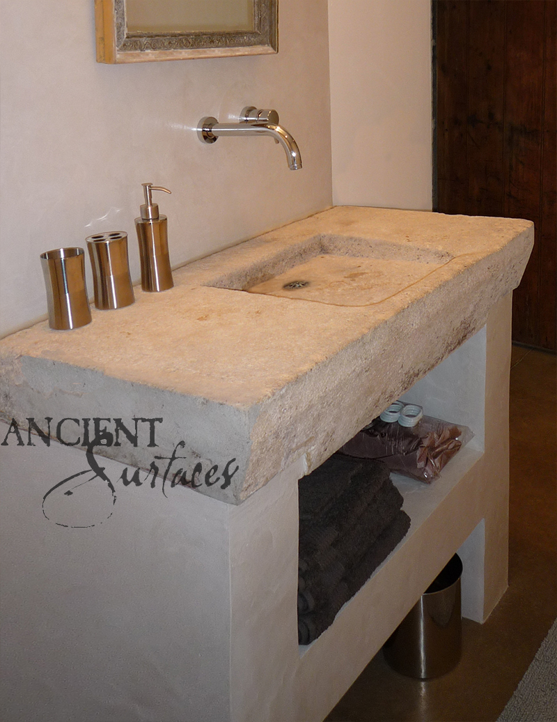 Antique Reclaimed Farmhouse Trough Sink Hand Carved Back In The 16th  Century, Refurbished To Accommodate ...