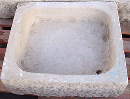 Antique Limestone Sink from the 15th century. Restoredand installed by Ancient Surfaces