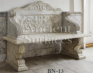 Antique marble bench reclaimed from England circa 18th century