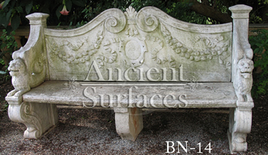 Antique stone bench reclaimed from England circa 18th century