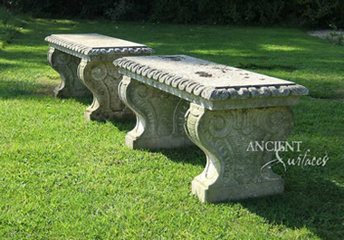 Antique limestone bench reclaimed from England circa 18th century