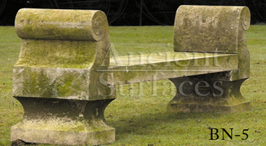 Antique limestone bench reclaimed from England circa 19th century