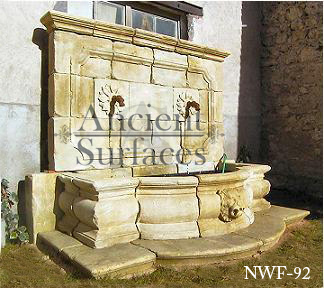New Hand Carved Wall Fountains By Ancient Surfaces