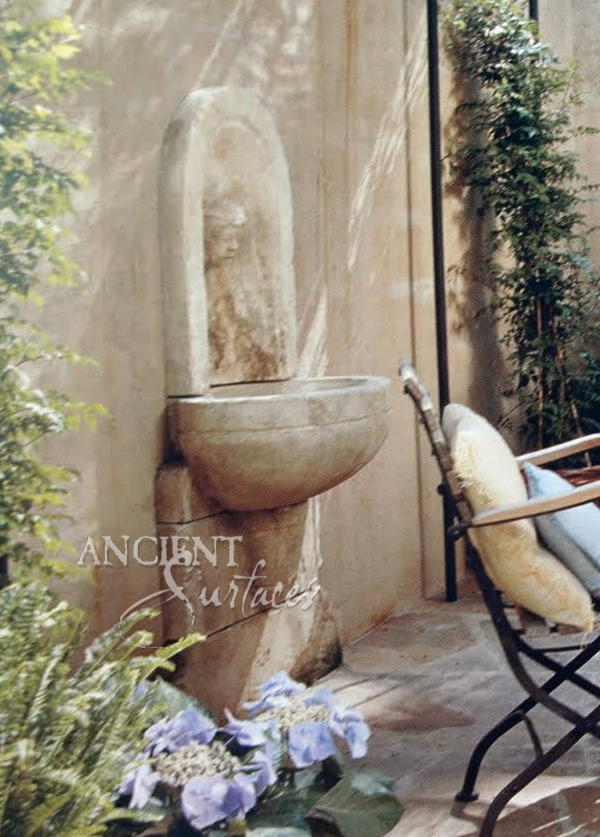 New Hand Carved Wall Fountains by Ancient Surfaces.