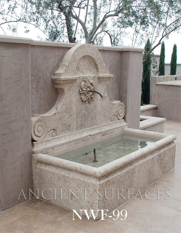 Carved Stone Fence : New hand carved wall fountains by ancient surfaces