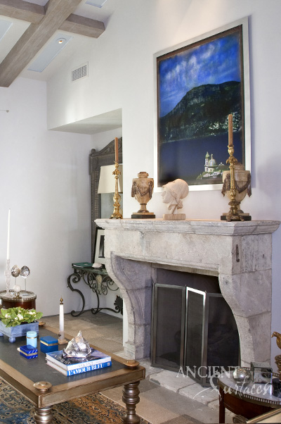 Antique Stone Fireplaces by Ancient Surfaces